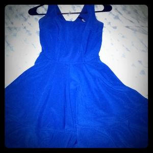 Lulu zip up Royal Blue Dress